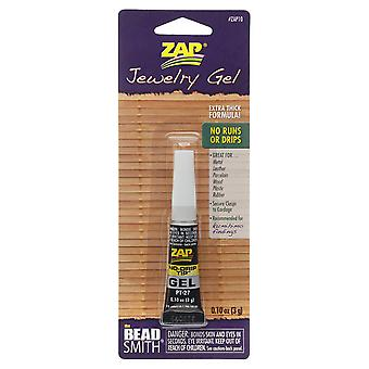 The Beadsmith Zap Jewelry Gel, For Securing Cord / Braids to Clasps, 0.1 Ounce