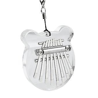 8 Ключевые kalimba мини палец фортепиано прозрачный акриловый клавиатура музыкальный инструмент