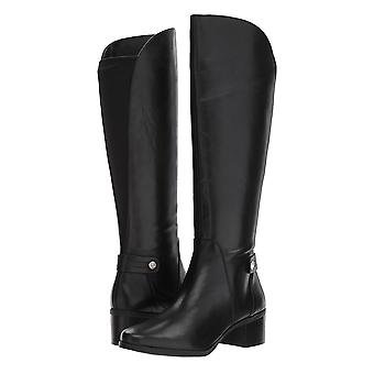 Anne Klein Womens Jelaw Leather Almond Toe Knee High Fashion Boots