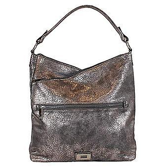 Eferri Bolso Shopper Fashion Metalizado - Women's Shoulder Bags, Brown (Vison), 9x36x40 cm (W x H L)
