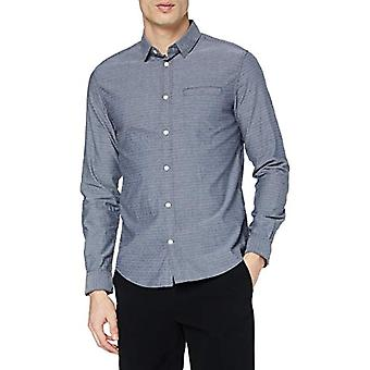 Tom Tailor Basic 1021066 Casual Shirt, 24493-Navy Chambray with W, XXXL Men's Shirt