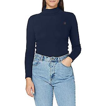 G-STAR RAW Xinva Slim Turtle Neck T-Shirt, Sartho Blue C515-6067, L Kvinna