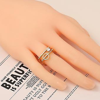 Chip Trip Gold Plated Copper Ring Antler Design Open Heart Ring Ladies Jewely
