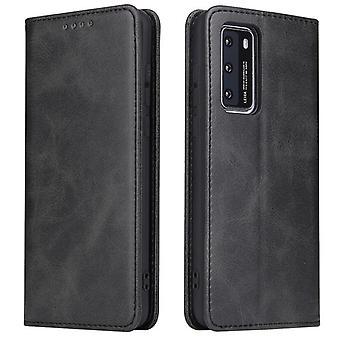 Flip folio leather case for samsung a51 5g black pns-1036