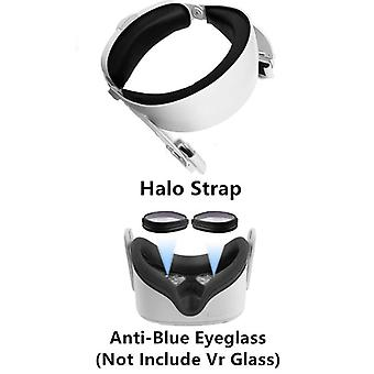 Upgrade Adjustable For Oculus Quest 2 Vr Halo Strap Increase Supporting Head