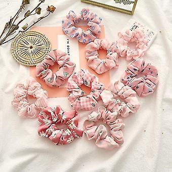 Fasce per capelli per ragazze o donne serie rosa dot stripe capelli accessori corda per capelli