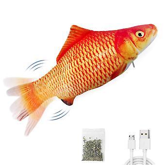 """Sähköinen flopping kala 10,5"""" liikkuva kissa potkaisija kala lelu realistinen flopping kala heiluu kala kissanminttu lelut liike kymmenen lelu muhkea interaktiivinen kissa t pl-511"""
