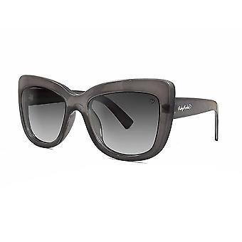 Ruby rocks crystal cannes grey angled cateye sunglasses