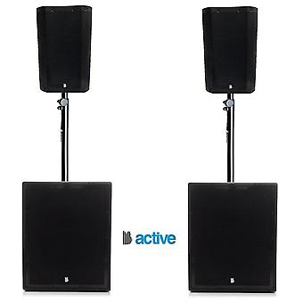 """Big gig rig 44 - compact active 1600w rms 8"""" tops and 12"""" subwoofer pa system with bluetooth"""