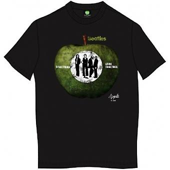 The Beatles Something/Come Together Mens Blk TS: Groß