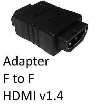 HDMI 1.4 (F) – HDMI 1.4 (F) Fekete OEM nemváltó adapter
