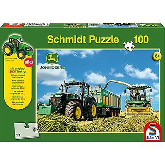 John Deere Tractor & Harvester 100 Piece Jigsaw Puzzle
