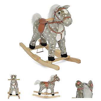 Moni peluche cheval à bascule Spotty WJ-001, la queue et la bouche mobile, son