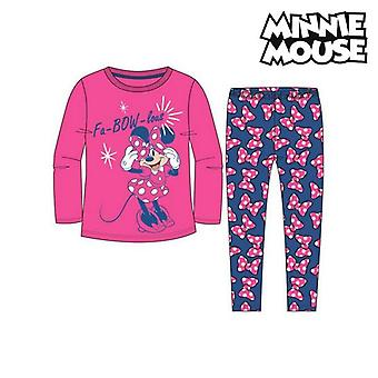 Children's Pyjama Minnie Mouse 74738 Fuchsia Blue (2 Pcs)