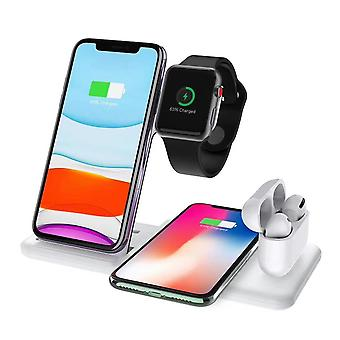 Zikko Zw8026 Wireless 4in1 Charger With 15w Fast Charging Base For Apple Airpods 2 / Pro Iphone, Samsung Note 10