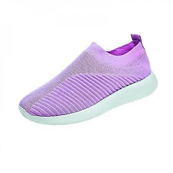 Women Mesh Slip On Sport Flat Shoes Sneakers