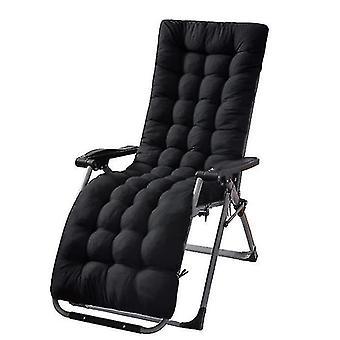 Paju tuoli art korkea tyyny kangas takaisin lepotuoli paksu pad ins puutarha (musta)