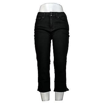 NYDJ Pantalon Femme Cool Embrace Skinny Crop Side Fentes Noir A377693