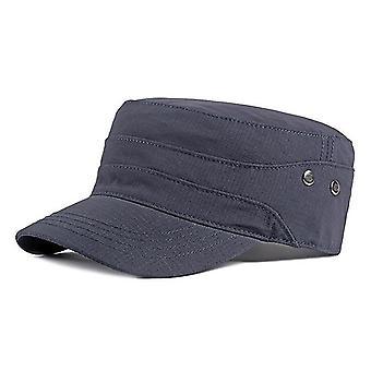 כובע גב מתכוונן צבאי שטוח של יוניסקס