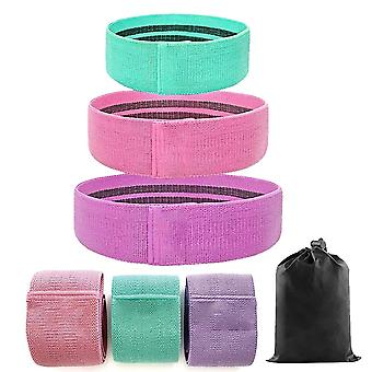 Non Slip Fabric Loop Exercise Butt Circles Legs Glutes Squat Resistance Bands