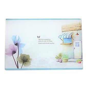 Multi-functional Tempered Glass Cutting Chopping Board Kitchen Surface Chef Board