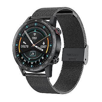 2021 Ak25 vrouwen smart watch man klok bluetooth oproep mp3-speler 1,28 inch hd full touch ip68