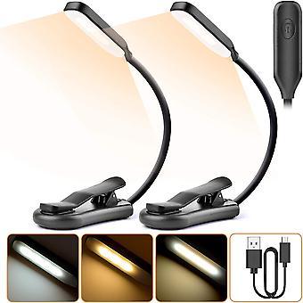 2 ks čtecí lampy, 7 led čtecí lampy (studená bílá a teplá žlutá), 3 režimy jasu, flexibilní krk 360