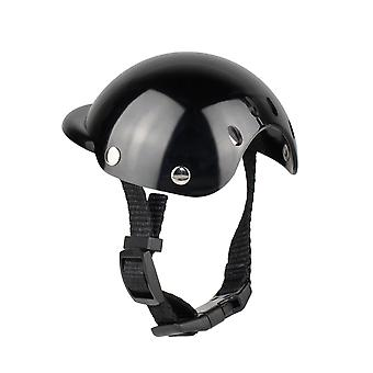Pet Helmet, Dog Safety Cap, Bicycle Helmet Cap For Cats, Universal Plastic Adjustable Dog Motorcycle Helmet For Small Dogs, Cats (black  S)