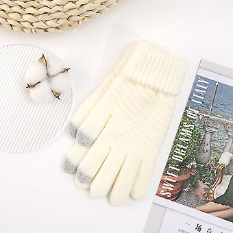 Winter New Touch Screen Knitting Fingered Cycling Warm Gloves For Men And Women