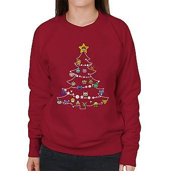 Pokemon bollen kerstboom vrouwen Sweatshirt