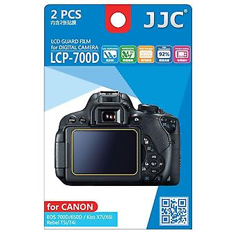 JJC guarda Film Crystal Clear Screen Protector para Canon EOS 650D, 700 D / Rebel T4i, T5i - sem corte (Pack de 2 filme)