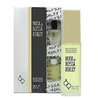 Alyssa Ashley White Musk Gift Set 50ml EDT + 5ml Musk Perfume Oil + 5ml White Musk Perfume Oil
