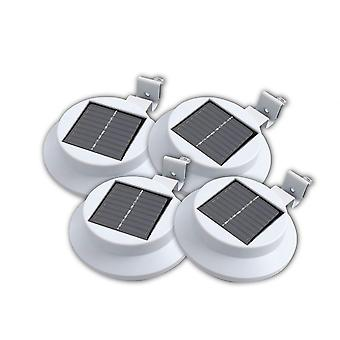 4 X Solar Powered 3 LED Polycrystalline Outdoor Wall Roof Solar Panel