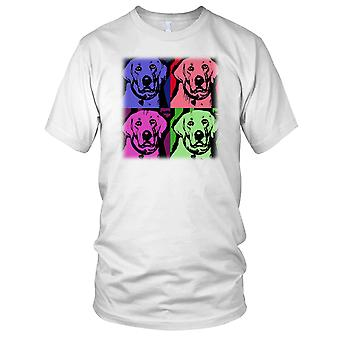 Pies Labrador Pop Art Design Panie T Shirt