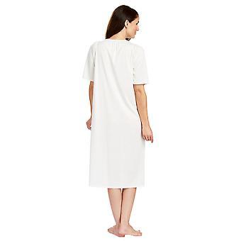 Feraud 3883040-10044 kobiet szampana bawełna biały noc suknia Gama Piżam Koszula nocna
