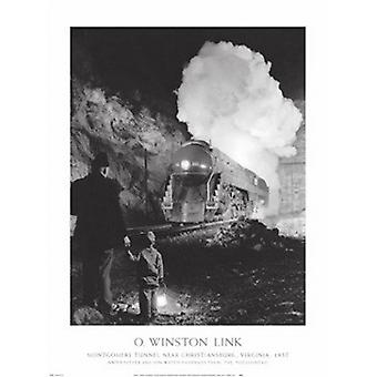 Montgomery Tunnel plakat Print af O Winston Link (24 x 32)