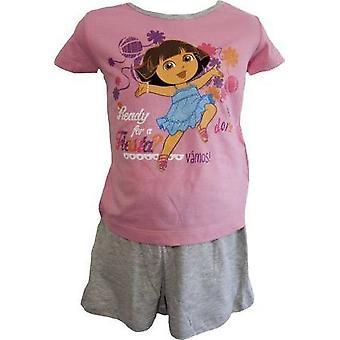 Dora The Explorer Girls Shortie Pyjamas Nightwear