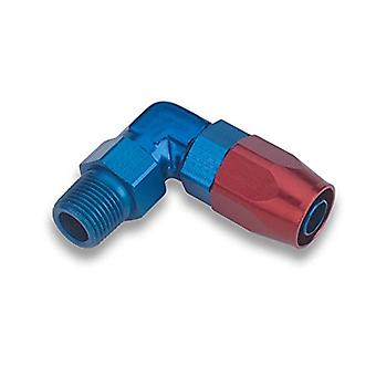 Earl's 829008 Swivel-Seal Blue And Red Anodized Aluminum 90-Degree Angled 3/8
