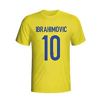 Zlatan Ibrahomovic Schweden Hero T-shirt (gelb) - Kids