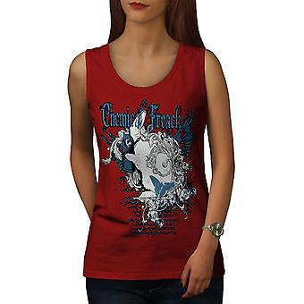 Chemic Freak Cool Women RedTank Top | Wellcoda