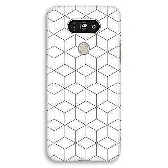 LG G5 volledige Case - kubussen zwart-wit afdrukken