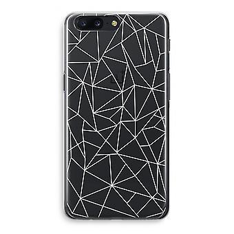 OnePlus 5 Transparant Case (Soft) - Geometric lines white