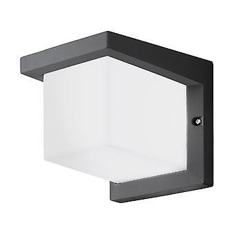 Lámpara de pared LED Exterior Eglo Desella 1 antracita