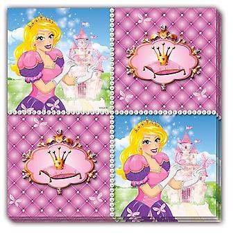 Serviettes of napkins Princess children party birthday 33x33cm 16 piece