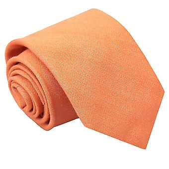 Light Orange Ottoman Wool Classic Tie