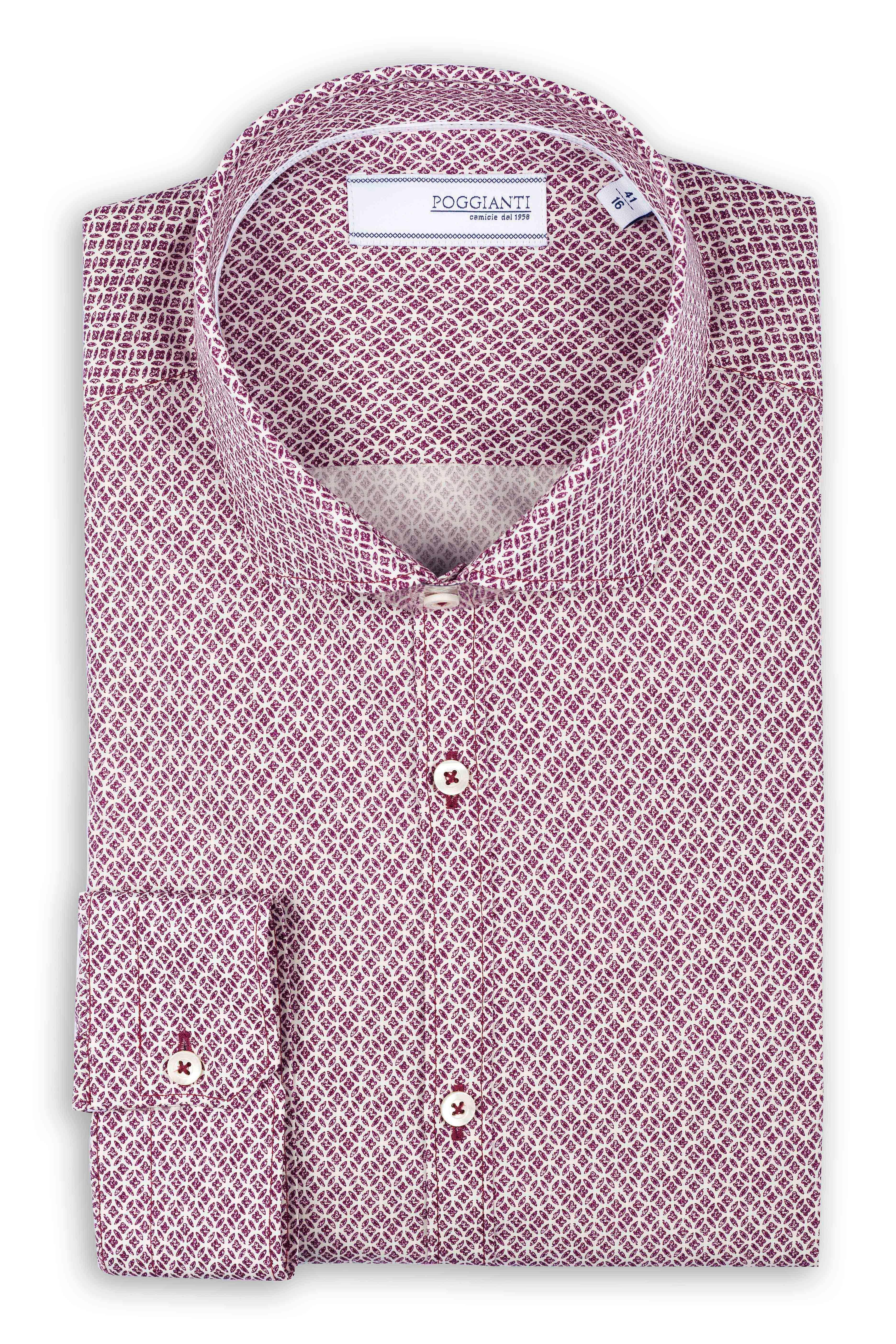 Fabio Giovanni Fantina Shirt - Mens High Quality Italian Smart and Casual Floral Print Shirt