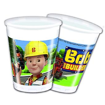 Bob of the Builder party Cup drinking cups 200 ml 8 piece children birthday theme party