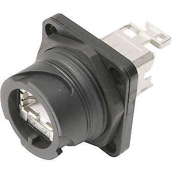 STX V 1 RJ45 connector set plastic version 1 RJ45 socket, mount Number of pins: 8P8C J80020A0002 Black Telegärtner J80020A0002 1 pc(s)