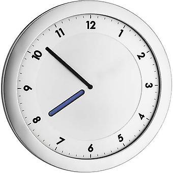 TFA Dostmann 60.3027.54 Quartz Wall clock 28 cm x 15 mm x 1.5 cm Metallic silver