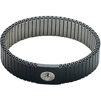 BJZ C-189 146P 4.0 ELL ESD wrist strap Grey can be shortened 4 mm stud and socket
